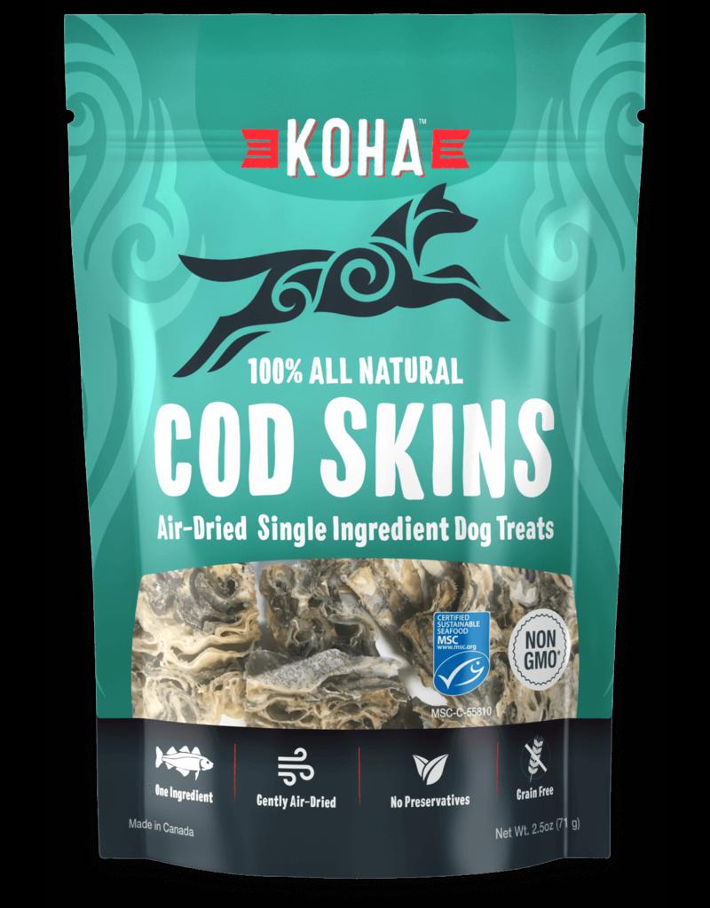 Koha Air Dried Cod Skins Dog Treats 2.5oz