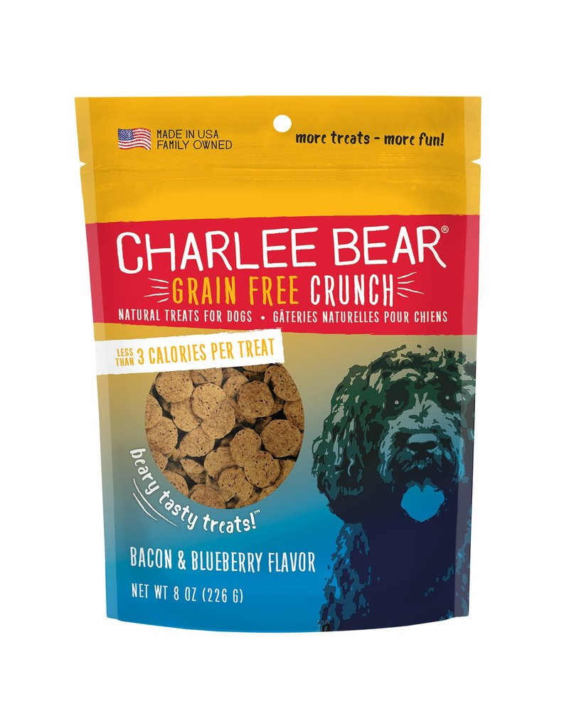 Charlee Bear Charlee Bear Grain-Free Bear Crunch Bacon Blueberry Dog Treats 8oz
