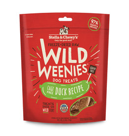 Stella & Chewy's Cage-Free Duck Recipe Freeze-Dried Wild Weenies Dog Treats 3.25oz