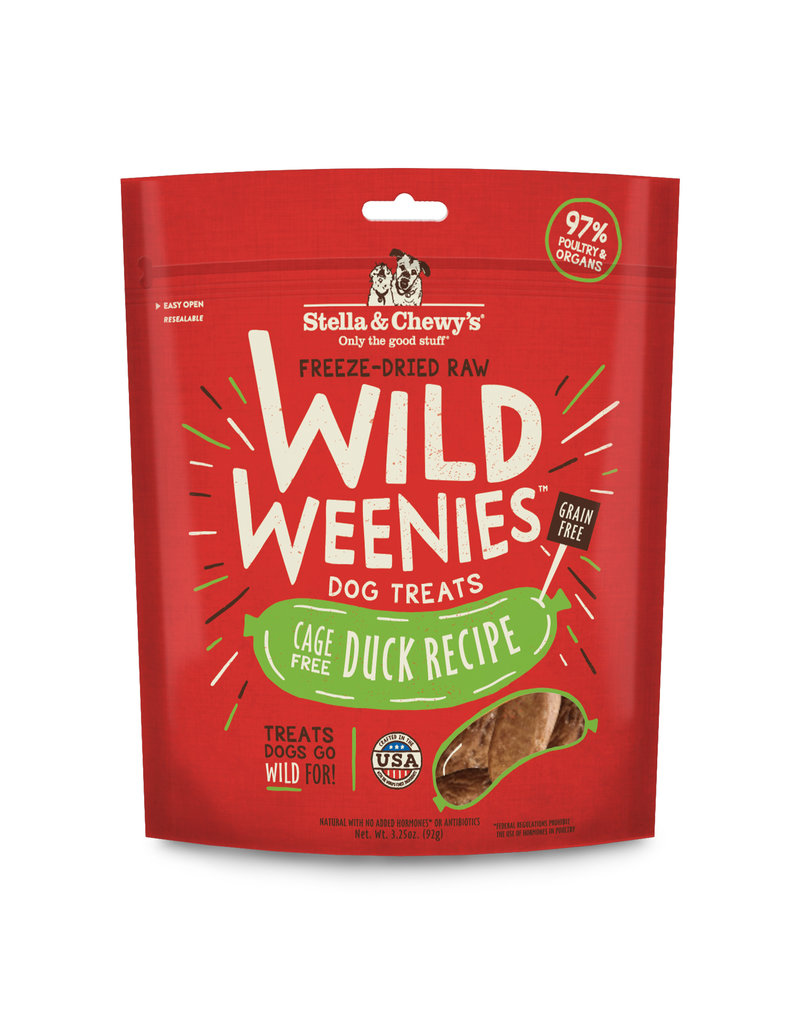 Stella & Chewy's Stella & Chewy's Cage-Free Duck Recipe Freeze-Dried Wild Weenies Dog Treats 3.25oz