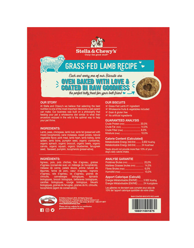Stella & Chewy's Stella & Chewy's Grass-Fed Lamb Raw Coated Biscuits Dog Treats 9oz