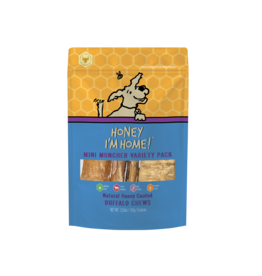 Honey I'm Home Honey I'm Home Buffalo Mini Muncher Dog Treats Variety Pk