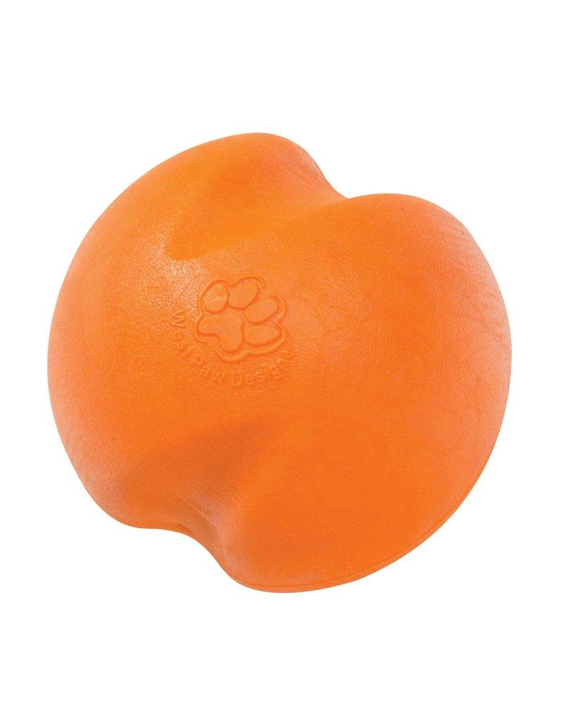 West Paw West Paw Zogoflex Jive Dog Ball Toy Small, Tangerine Orange