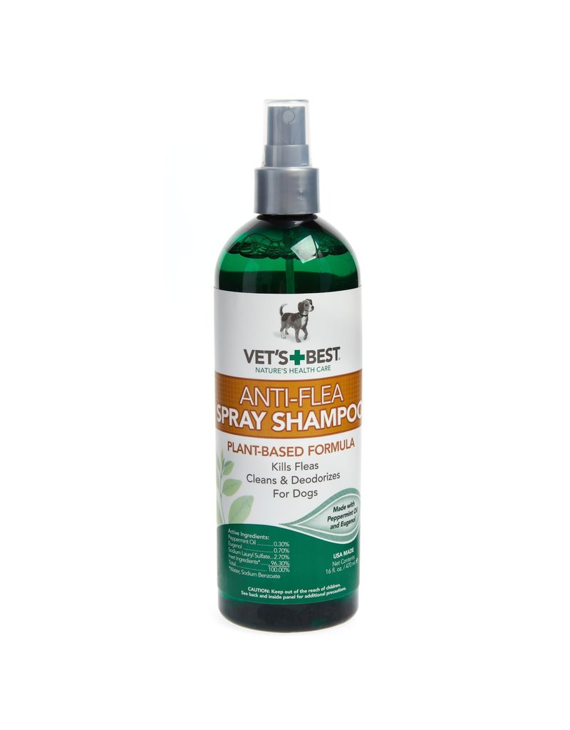Vet's Best Vet's Best Anti-Flea Spray Shampoo Plant-Based Formula for Dogs 16oz