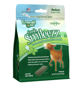 Emerald Pet Emerald Pet Smileezz Medium Dental Chews for Dogs 12.5oz