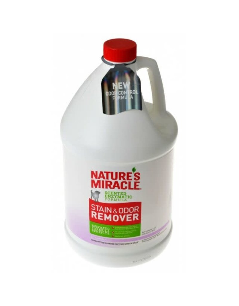 Nature's Miracle Enzymatic Formula Stain & Odor Remover Lavender Scent for Dogs 128oz Pour Bottle
