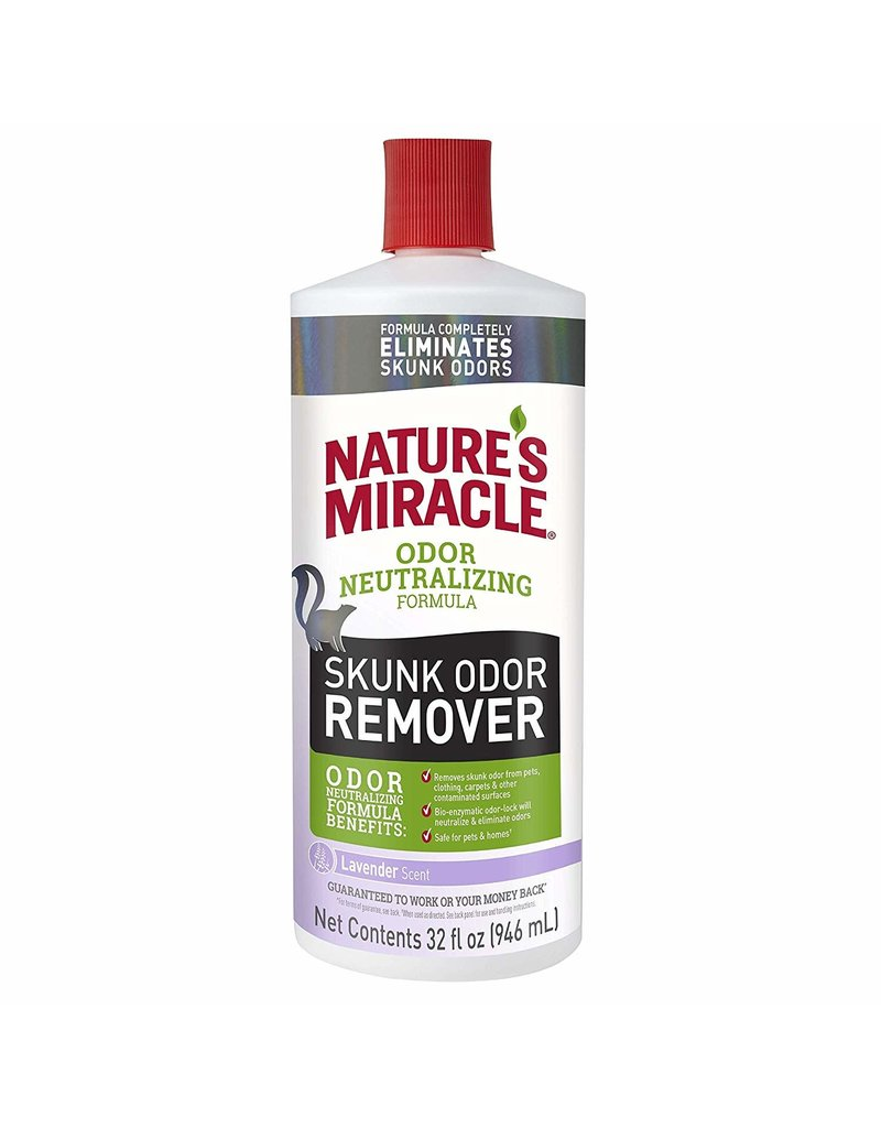 Nature's Miracle Lavender Skunk Odor Remover for Dogs 32oz Pour Bottle