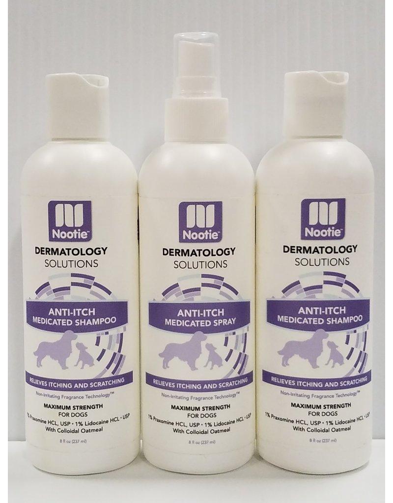 Nootie Nootie Dermatology Solutions (1) Anti-Itch Medicated Spray & (2) Anti-Itch Medicated Shampoo for Dogs 3pk