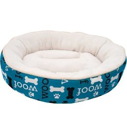 Dog It DogIt DreamWell Cuddle Round Dog Bed Woof Blue