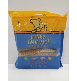 Honey I'm Home Honey I'm Home Buffalo Trachea Tube Dog Chew 9.7oz 5piece