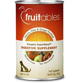 Fruitables Fruitables Pumpkin SuperBlend Digestive Supplement for Dogs & Cats 15oz