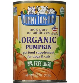 Nummy Tum Tum Organic Pumpkin Pet Food Supplement for Dogs & Cats15oz