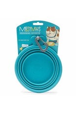Messy Mutts Messy Mutts Collapsible Dog Bowl Blue 3 Cup