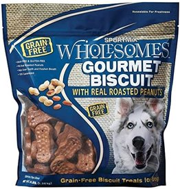 Sportmix Sportmix Wholesomes Gourmet Biscuit Roasted Peanuts Dog Treats 3lb
