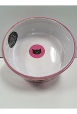 Petrageous Petrageous Meow Flair Pink Cat Bowl 1each