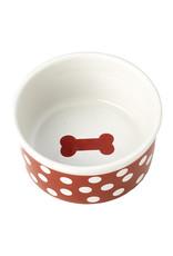 Petrageous Poppy Dots Bone Red Bowl