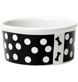 Petrageous Petrageous Poppy Dots Bone Black Bowl