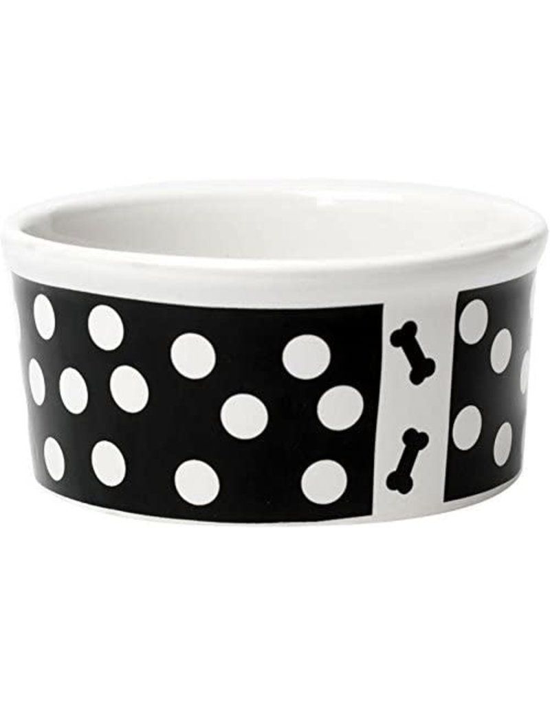 Petrageous Poppy Dots Bone Black Bowl