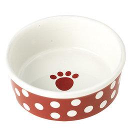 Petrageous Petrageous Poppy Dots Paw Red Bowl