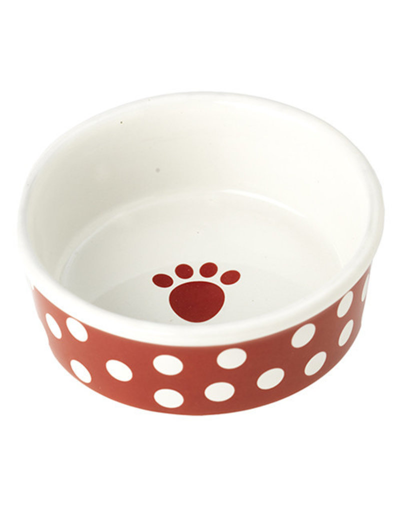 Petrageous Petrageous Poppy Dots Paw Red Bowl