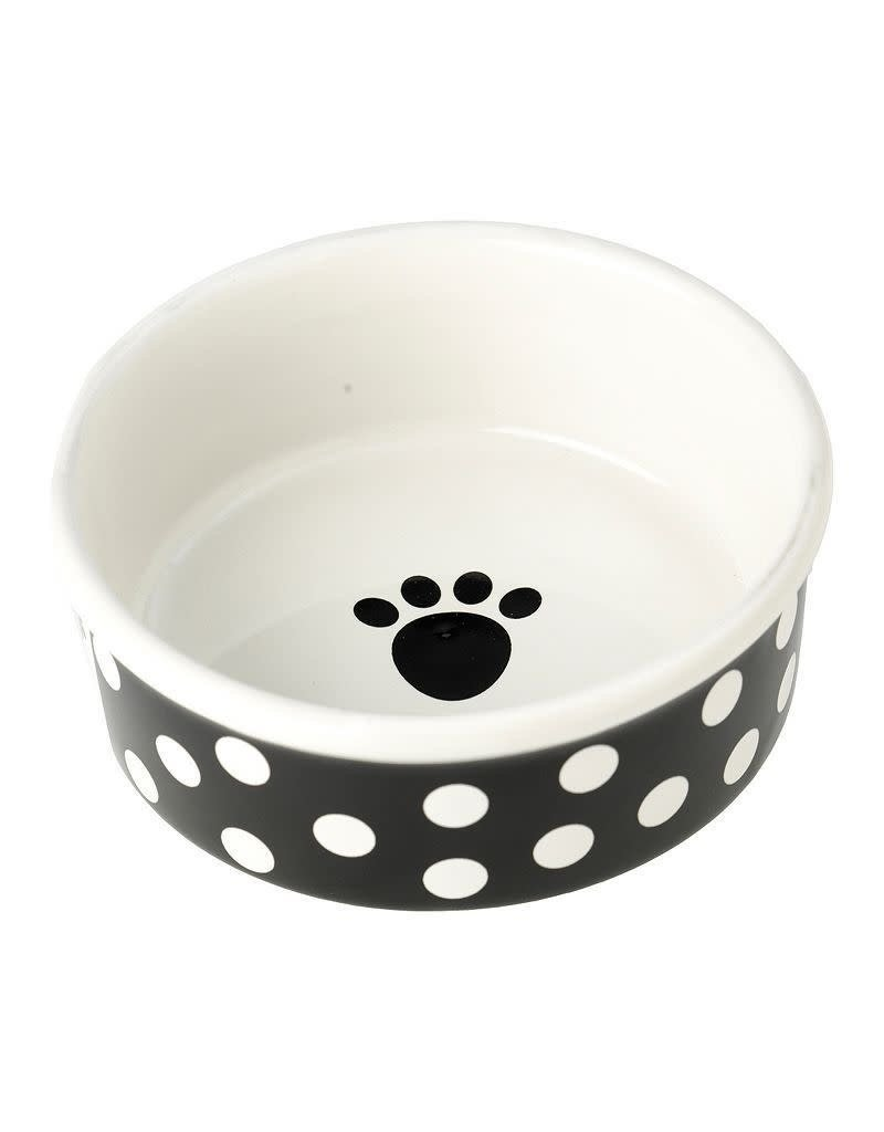 Petrageous Petrageous Poppy Dots Paw Black Bowl