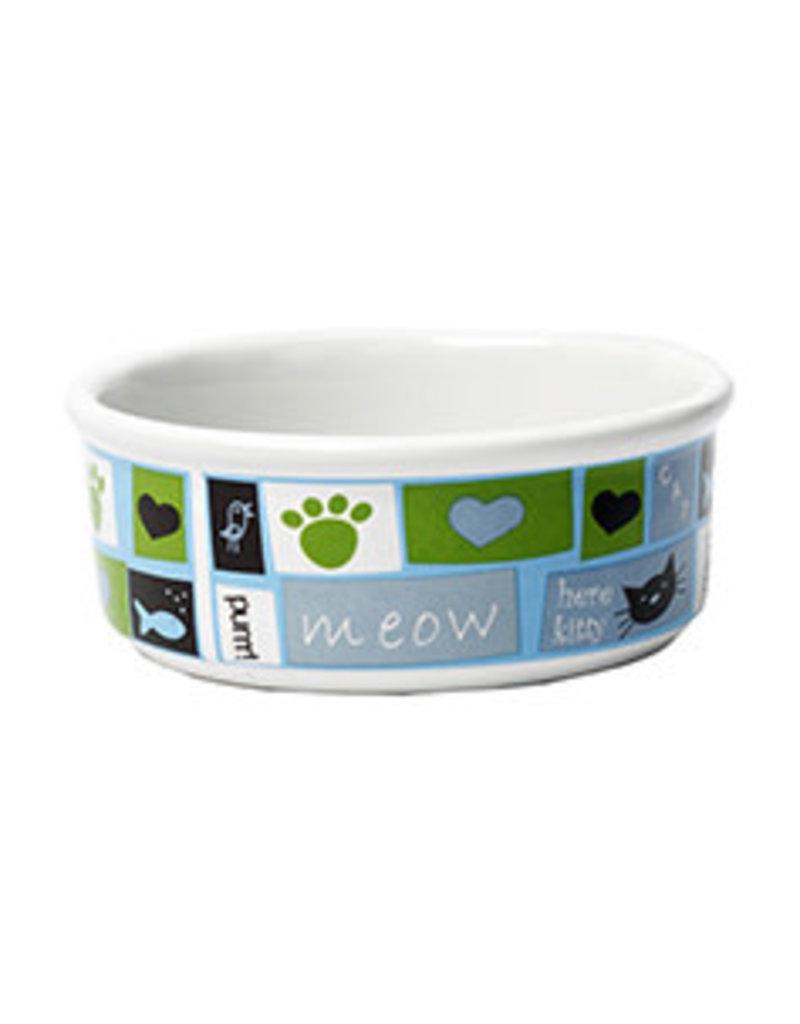 Petrageous Meow Flair Blue Cat Bowl 1each