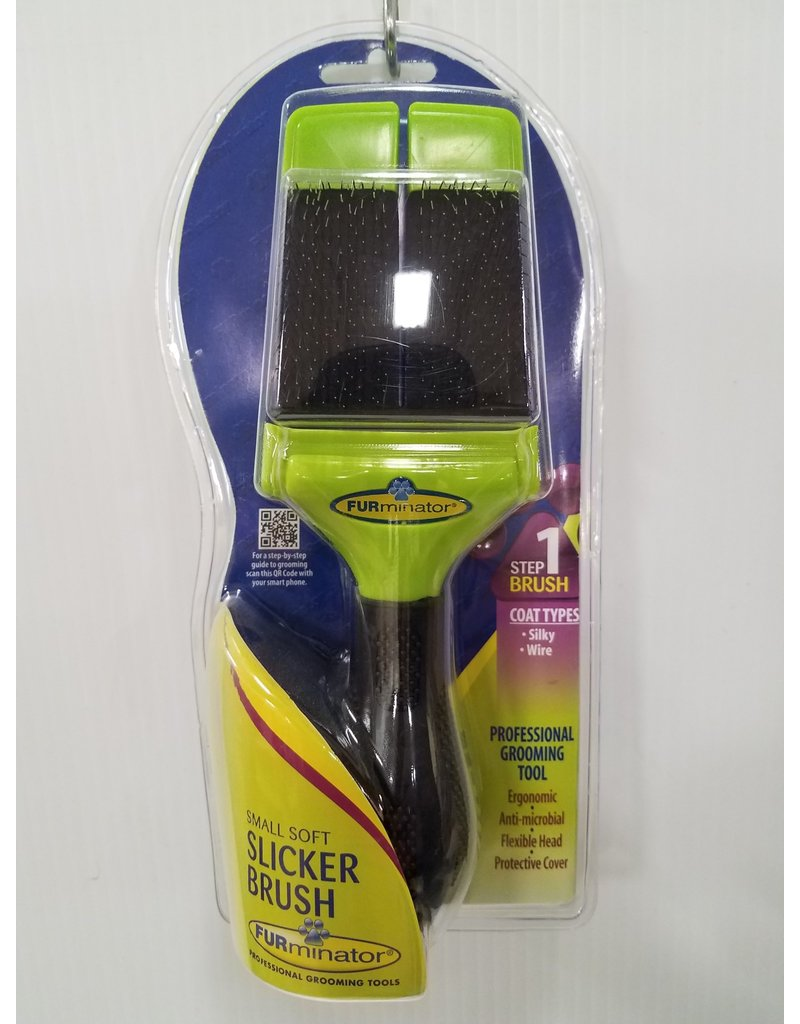 Furminator Soft Slicker Brush for Small Dogs