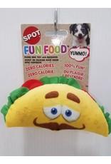 "Spot Fun Food Taco Dog Toy 6"""
