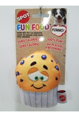 Spot Fun Food Blueberry Muffin Dog Toy 4""