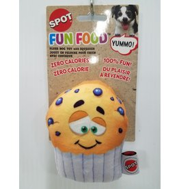 Ethical Products Spot Fun Food Blueberry Muffin Dog Toy 4""