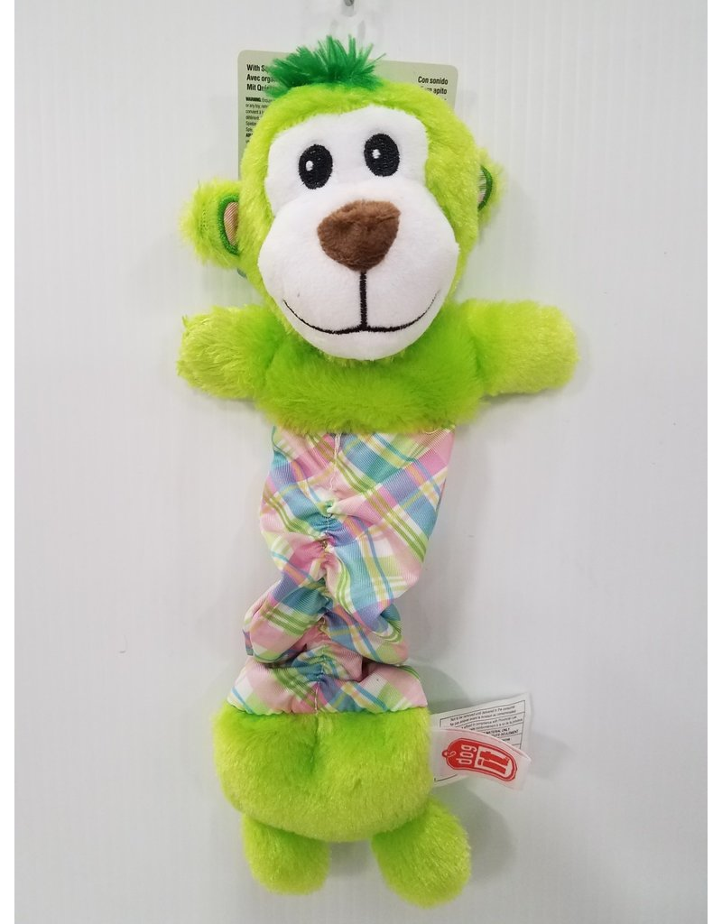 "Dog It Dogit Stuffies Pastel Green Monkey 12"" Dog Toy"