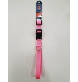 "Tuff Tuff 1"" Large Pink Dog Collar 18""-26"""