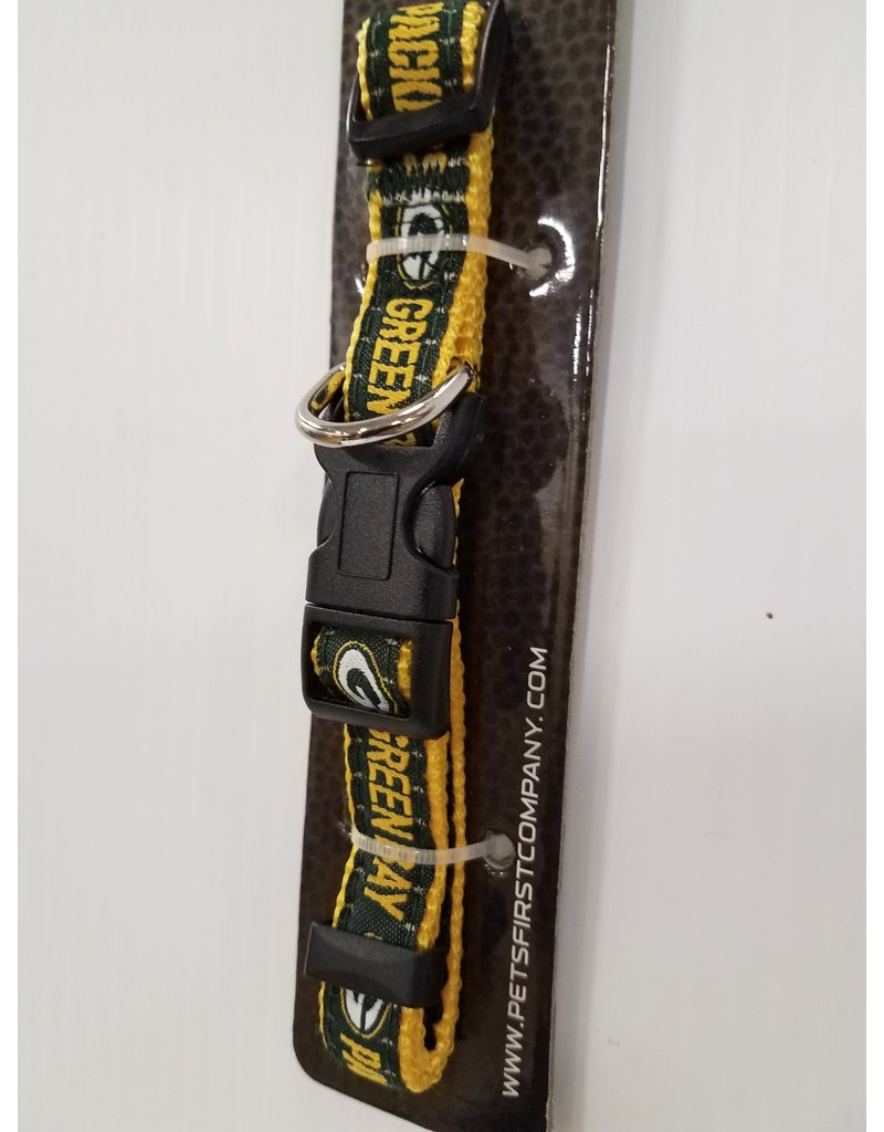 "Pets First Pets First Green Bay Packers 5/8"" Dog Collar 12""-18"""