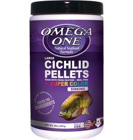 Omega One Omega One Cichlid Large Super Color  Pellets Sinking 20oz