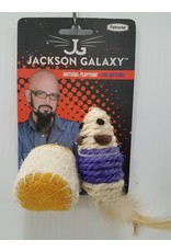 Jackson Galaxy Jackson Galaxy Natural Play Time Rope Mouse w Ball Cat Toy