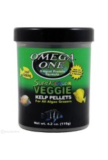 Omega One Omega One Small Super Color Veggie Kelp Pellets Sinking 4.2oz