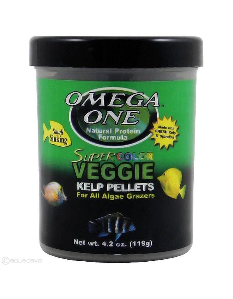 Omega One Small Super Color Veggie Kelp Pellets Sinking 4.2oz