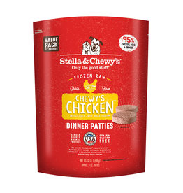 Stella & Chewy's Chicken Raw Frozen Dinner Patties for Dogs 12lb