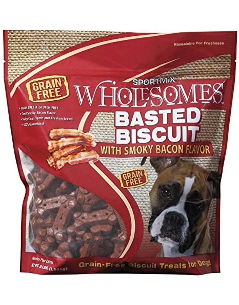 Sportmix Sportmix Wholesomes Basted Biscuit with Smoky Bacon Dog Treats 3lb