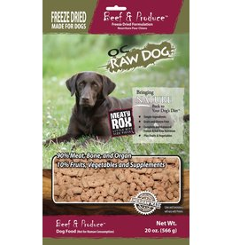 OC Raw Dog OC Raw Dog Freeze Dried Beef & Produce Rox Dog Food 20oz
