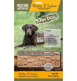 OC Raw Dog OC Raw Dog Freeze Dried Chicken & Produce Rox Dog Food 20oz
