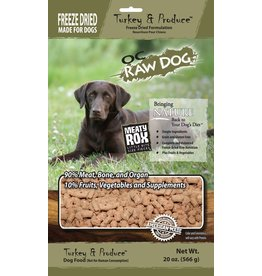 OC Raw Dog OC Raw Dog Freeze Dried Turkey & Produce Rox Dog Food 20oz