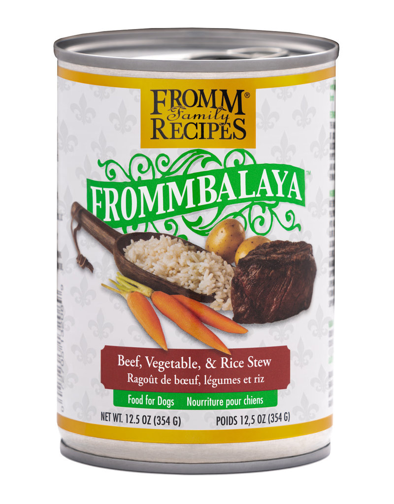 Fromm Family Foods Frommbalaya Beef, Vegetable, & Rice Stew Canned Dog Food 12.5oz