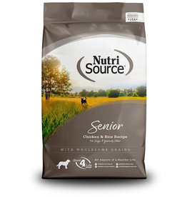 NutriSource Super Premium Pet Foods NutriSource Senior Chicken & Rice Formula Dry Dog Food - More Choices Available