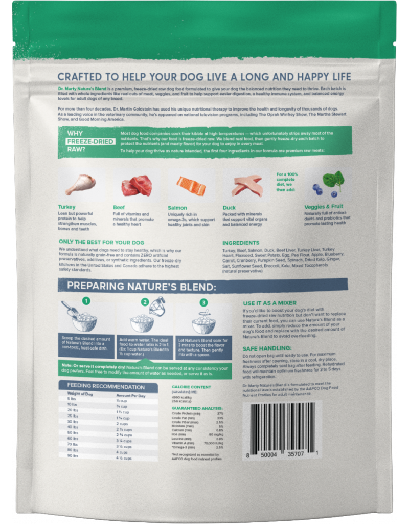 Dr. Marty Dr. Marty Nature's Blend Freeze Dried Raw Dog Food