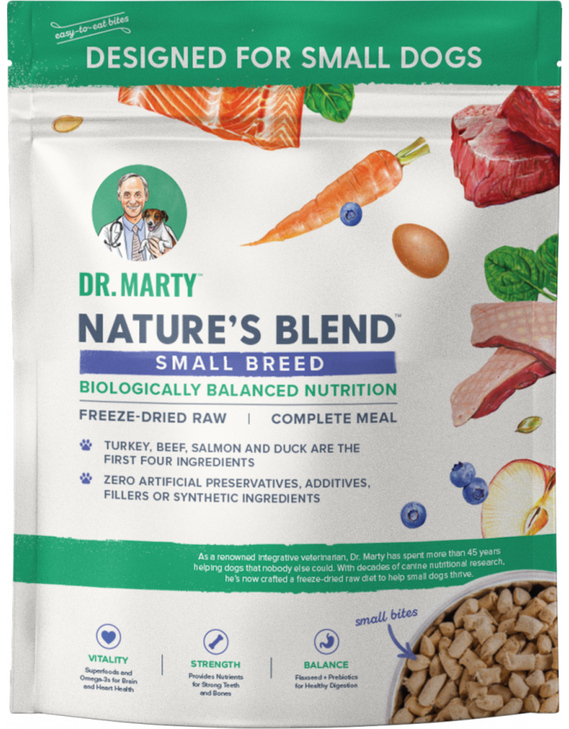 Dr. Marty Dr. Marty Dog Food Small Breed Nature's Blend Freeze Dried Raw Dog Food