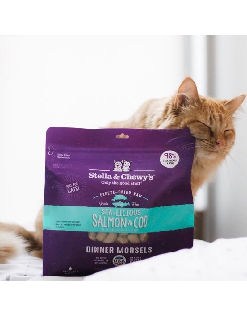 Stella & Chewy's Stella & Chewy's Sea-Licious Salmon & Cod Freeze-Dried Dinner Morsels for Cats 8oz