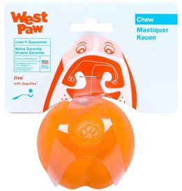 West Paw West Paw Zogoflex Jive Dog Ball Toy Large, Tangerine Orange