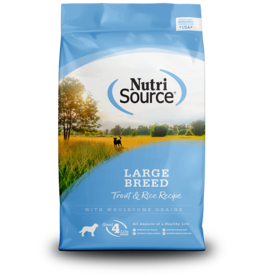 NutriSource Super Premium Pet Foods NutriSource Large Breed Trout & Rice Formula Dry Dog Food 30lb