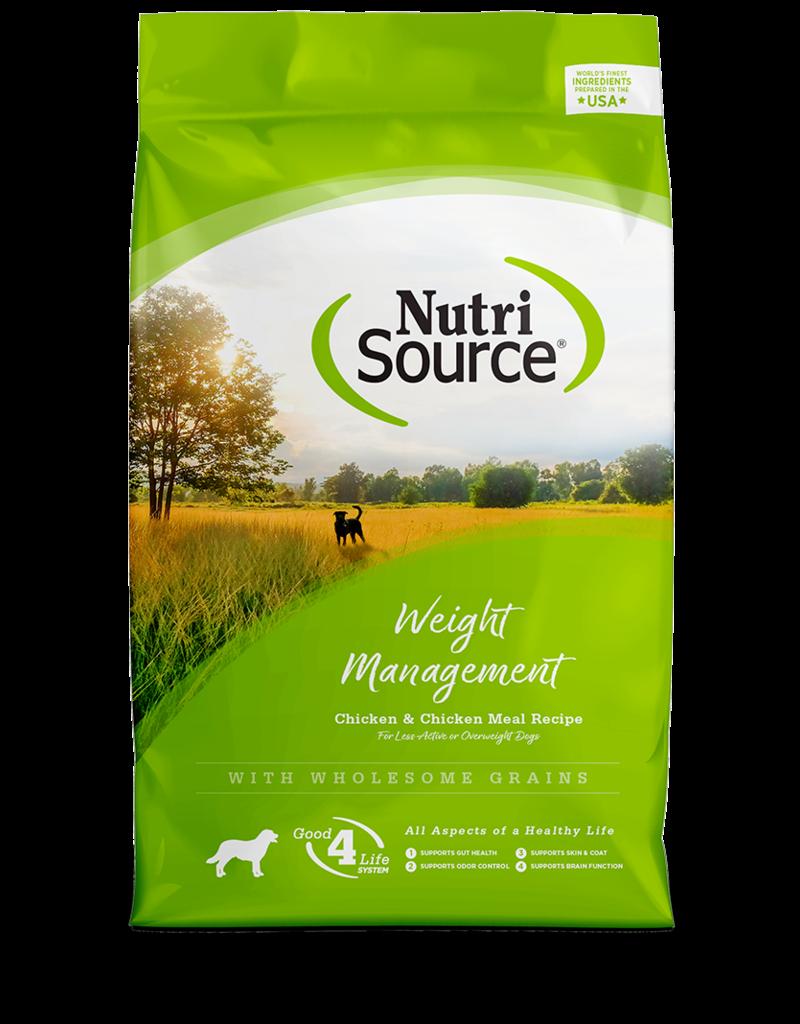 NutriSource Super Premium Pet Foods NutriSource Weight Management Chicken & Rice Formula Dry Dog Food